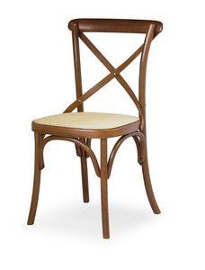 Ciao W, Chaire en bois de hêtre, assise en paille de Vienne