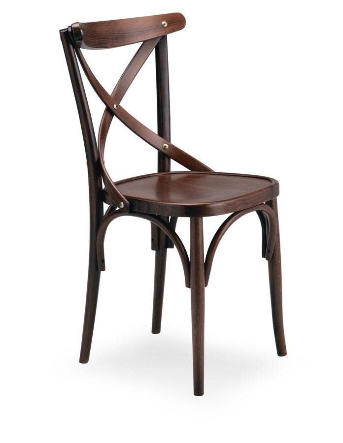 Croce 1, Chaire en bois de hêtre pour un usage résidentiel