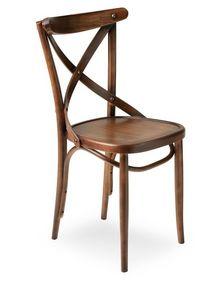 Croce, Chaise en bois massif, pour l'usage de contrat
