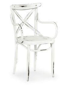 Croce CB, Chaise en bois cintré avec accoudoirs