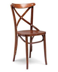 Croce sedile sezionato, Chaise de pub et restaurant, la structure en bois courbé