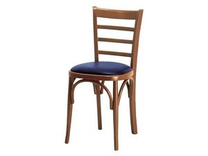 H/a, Chaise rembourrée avec dossier en bois avec lattes horizontales
