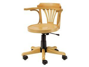 Londra, Chaise en bois avec des roues, réglable en hauteur