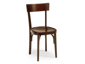 Milano crocera, Chaise de style ancien pour les bars et les pubs, en bois