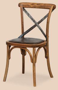 SE 431 / M, Chaise avec assise rembourrée, en bois courbé