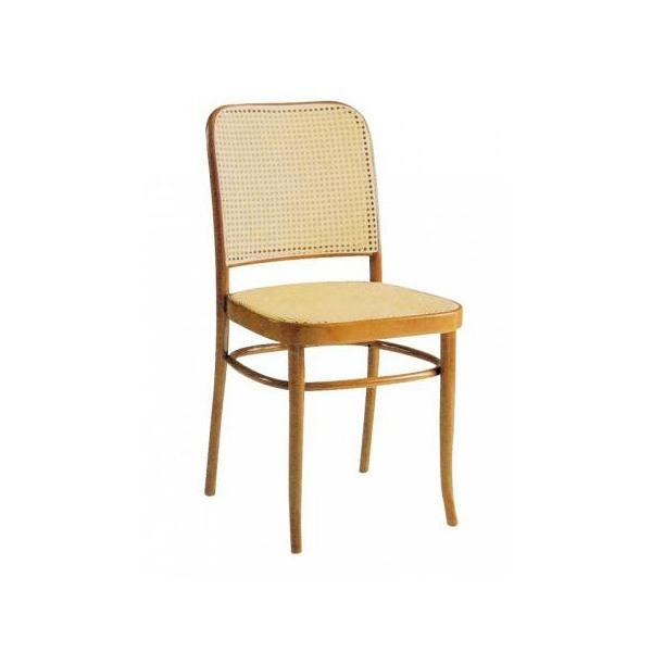 Thonet canna, Chaise en bois avec de la paille de retour à Vienne