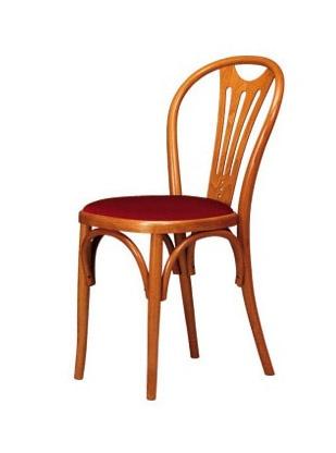 V04, Chaire en bois de hêtre courbé, siège dans divers matériaux