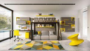 Boxer 1820, Chambre d'enfant avec un lit mezzanine