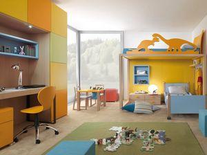 Boxer 9001, Chambre d'enfant avec lit superposé