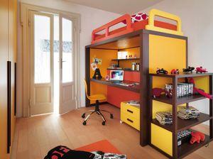 Boxer 9008, Chambre à coucher avec lit convertible en bureau