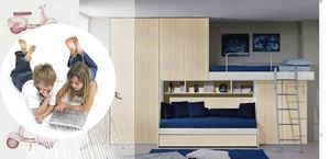 Chambre enfants 16, Enfants mobilier de chambre, pont penderie, lit extractible