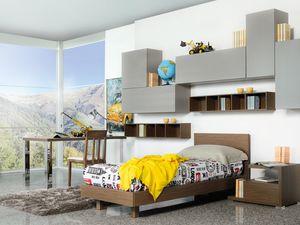 Climb Garçons 13, Chambre modulaire pour les enfants, moderne et fonctionnel