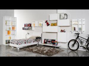 Climb Ragazzi 17, Chambre modulaire pour les enfants, idéal pour optimiser l'espace