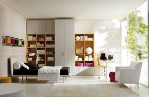 Comp. 104, Lits pour enfants, salle reconfigurable, style moderne