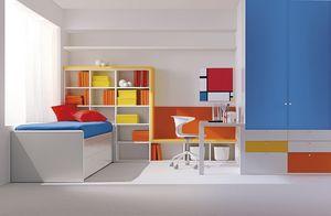 Comp. 113, Cette chambre compacte pour les enfants, couleurs primaires, l'attention au détail