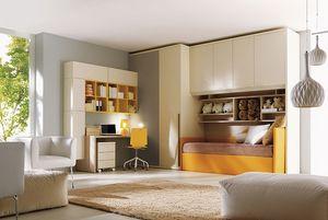 Comp. 206, Chambre, lit, armoire, bureau pour enfants