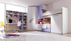 Comp. 401, Solution pour la chambre des enfants, brevetée lit mezzanine