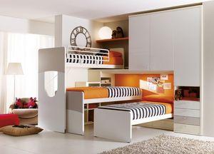 Comp. 404, Meubles pour la chambre des enfants, avec tête de lit en forme