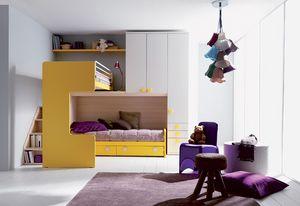 Comp. 407, Chambres et table de chevet pour les enfants