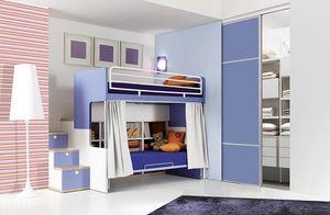 Comp. 903, Les chambres d'enfants avec lits superposés, fonctionnelles et bien rangé