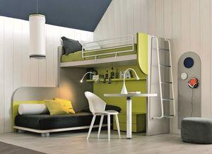Comp. New 157, Coin chambre qui maximisent l'espace, avec deux lits et un bureau
