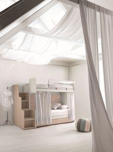 Comp. New 160, Lits superposés idéal pour les petites chambres, avec des tiroirs de faible encombrement