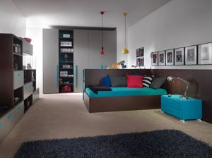 Compact 9006, Chambre compacte avec bureau pouvant être transformé en lit