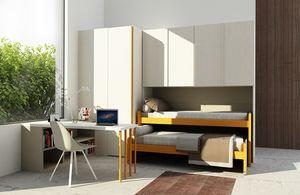 Cool comp.12, Chambre pour enfants avec des lits peu encombrants