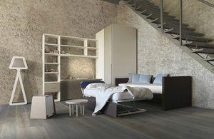 Natural comp.07, Chambre avec canapé-lit contenant un deuxième lit