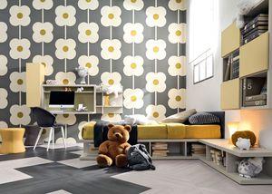 Comp. New 143, Enfant unique chambre avec lit, bureau, bibliothèque et sièges