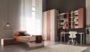 Comp. New 150, Cette chambre moderne pour les enfants, avec placards et armoires murales