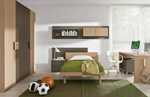 Warm comp.03, Chambre d'enfant en bois bicolore