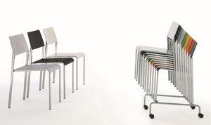 Chariot pour chaises, Chariot pour stockage et de manutention des chaises, idéal pour la restauration et des salles de conférence