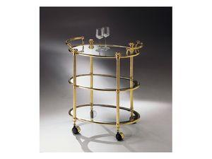 BOHEME 679-3, Chariot de laiton, des meubles pour hôtels et restaurants