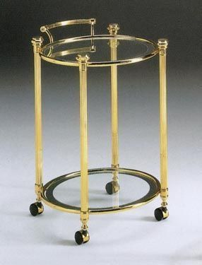 IONICA 675, Chariot ronde en laiton, pour les cuisines de l'hôtel