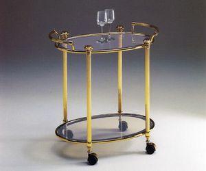 IONICA 679, Cupholders chariot de laiton, pour les restaurants élégants