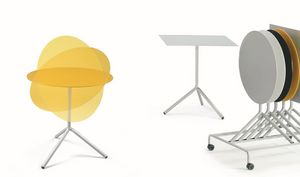 Trolley pour la table, Chariot pour tables idéales pour l'hôtel et la restauration pliantes