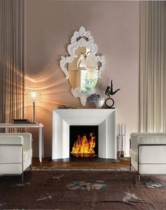 Art. VL411, Cheminée élégante en bois blanc