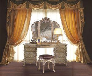 3605 COIFFEUSE, Coiffeuse en bois sculpté à la main adapté pour les chambres classiques