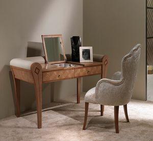 TS07 Charme, Table de toilette avec miroir et compartiment de rangement