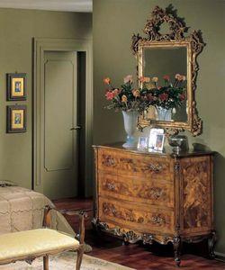 3265 CHEST OF DRAWERS, Coffres en bois avec 3 tiroirs, style classique de luxe