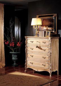 3370 COFFRE BAROCCO, Commode 5 tiroirs, '800 style pour les salles classiques