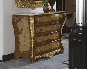 5823, Commode de luxe en noyer canaletto