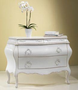 Art. 20936, Commode classique en bois blanc
