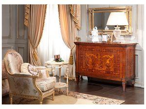 Art. 791 chest of drawers, Poitrine main de tiroirs, Maggiolini marqueterie, pour les chambres de luxe