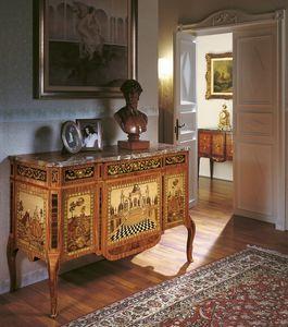 Art. 90, Commode de luxe classique, avec marqueterie, pour la chambre d'entr�e