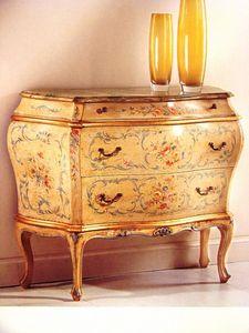 Art. 929, Classique poitrine de luxe de tiroirs pour chambre à coucher, Commode laquée pour la maison