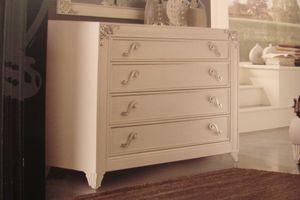 Art. IR092, Perle blanche laqu�e commode pour les chambres