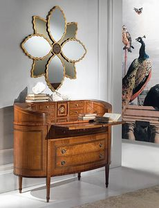 C129 Ellittico commode, Dresser de luxe classique, elliptique, avec bureau