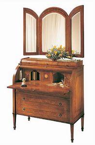 C179 Renoir bureau, Bureau avec rabat, en noyer massif, style de luxe classique